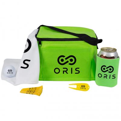 6 Pack Cooler Golf Kit w/ Pinnacle® Rush