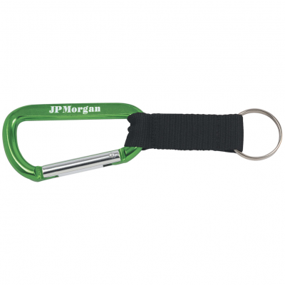 8mm Carabiner with Black Strap