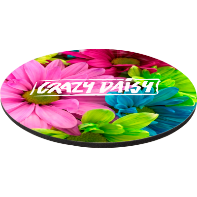 """8"""" Rd 1/4"""" Thick Full Color Soft Mouse Pad"""