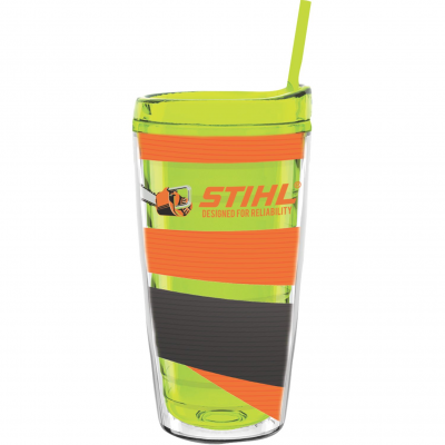16 oz Made In The USA Tumbler w/ Lid & Straw