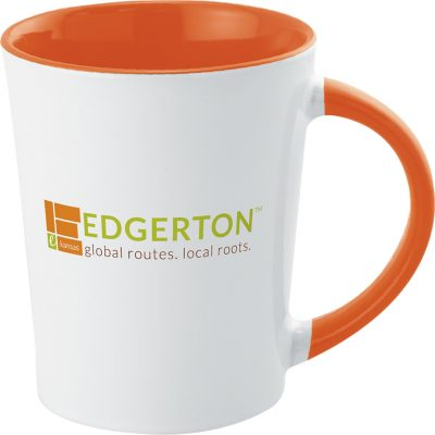 12 Oz. Full Color Two-Tone Stoneware Mug