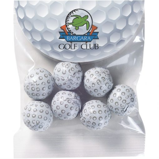 Circular Top Snack Bag - Chocolate Golf Balls