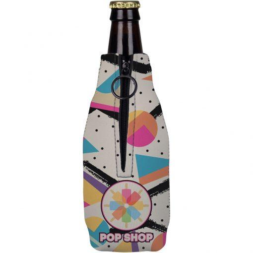 Full Color Neoprene Zippered Bottle Holder