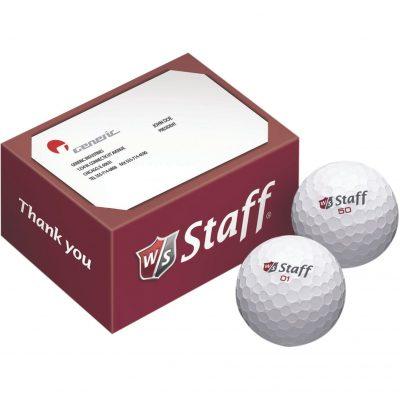 Wilson Staff 2-Ball Business Card Box