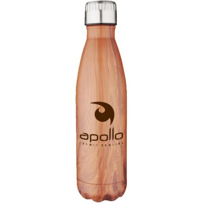 17 Oz. Apollo Wood Grain Double Wall Stainless Bottle