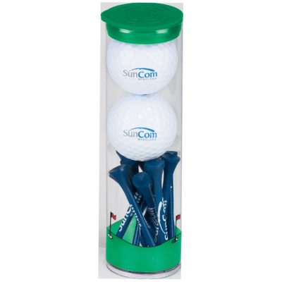 2 Ball Tall Tube w/Warbird 2 Golf Ball