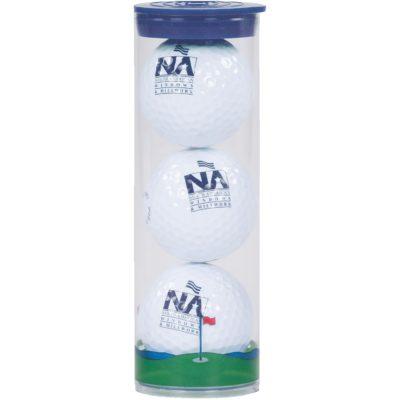 3 Ball Clear Tube w/Wilson Chaos Golf Balls