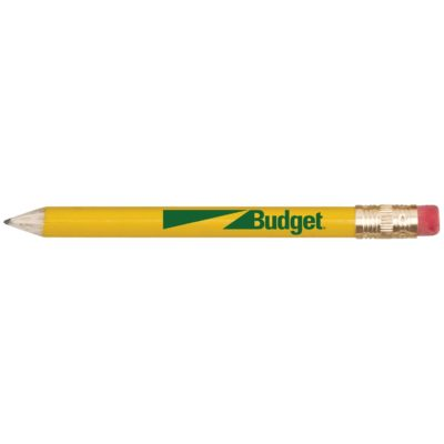 Round Wooden Golf Pencil w/Eraser
