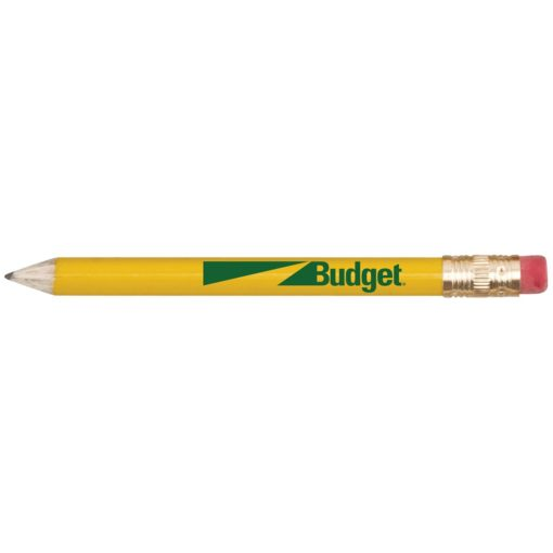 Round Wooden Golf Pencil w/Eraser