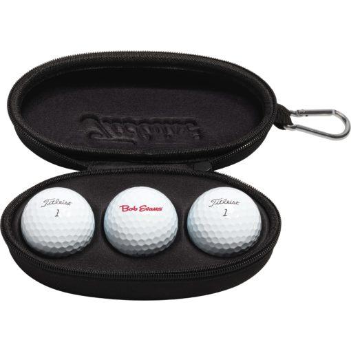 Titleist® 3-Ball SunGlass Case w/Carabiner