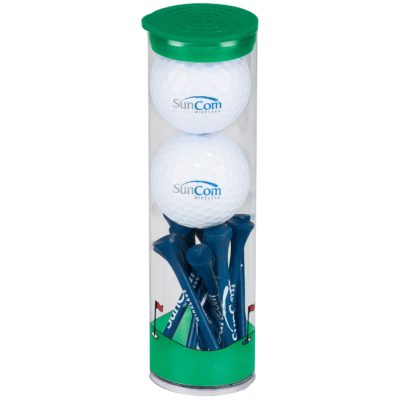 2 Ball Tall Tube w/ Pinnacle® Rush Golf Balls