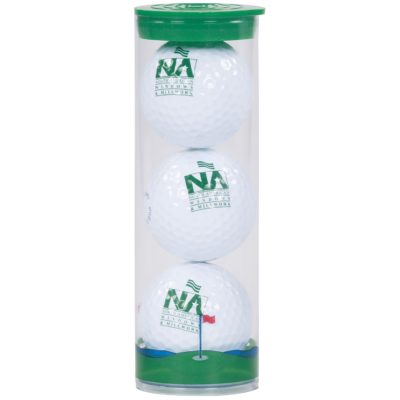 3 Ball Clear Tube w/ Pinnacle® Rush Golf Balls