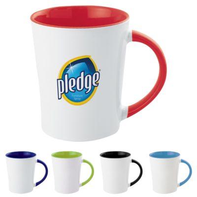 12 Oz. Full Color Two-Tone Stoneware Mug
