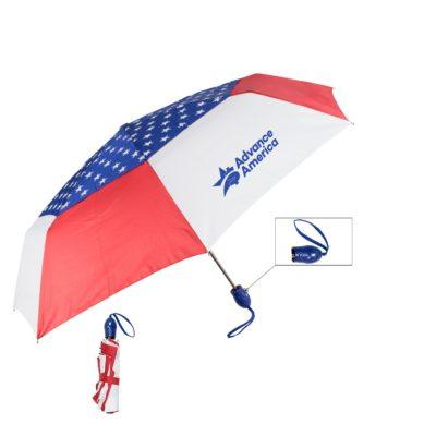 """44"""" Auto Open Auto Close USA Umbrella"""