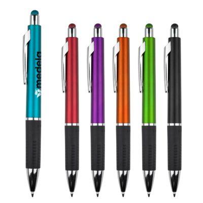Bounty Metallic Stylus Pen w/ Black Gripper