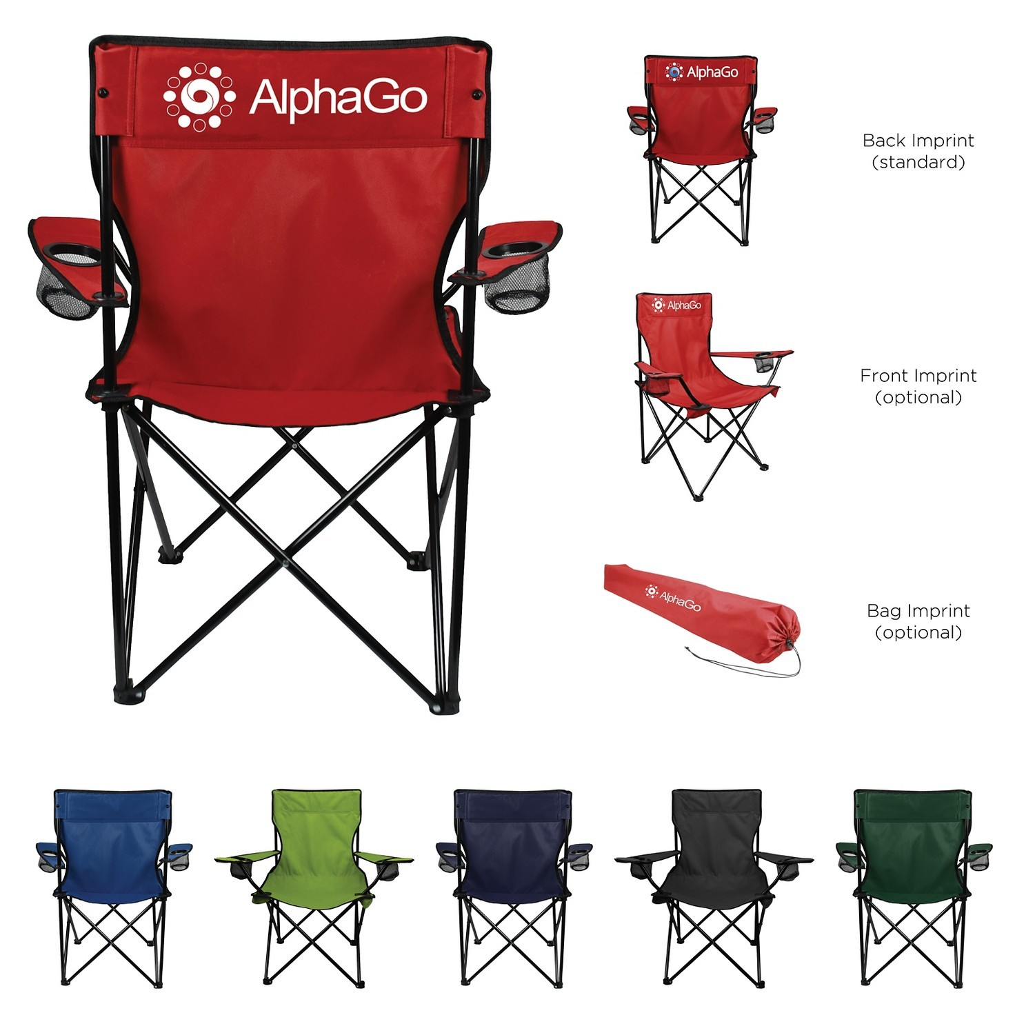 Folding Captains Chair With Carry Bagu0027