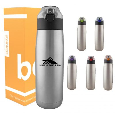 24 oz Double Wall Stainless Steel Bottle