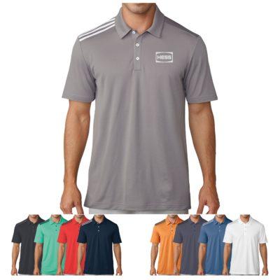 Adidas® 3 Stripe Polo Shirt