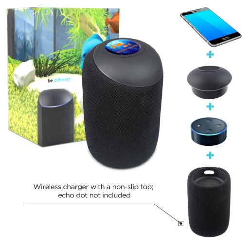 Echo Dot Wireless Speaker w/ Wireless Charger