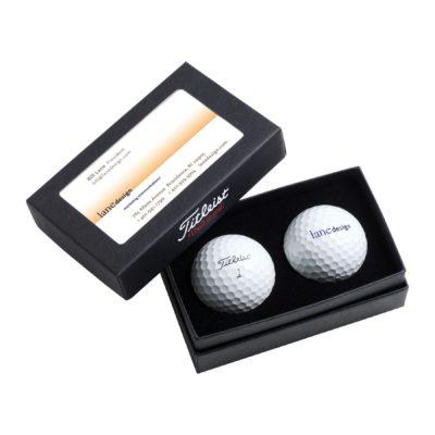 Titleist® 2-Ball Business Card Box w/ DT TruSoft™
