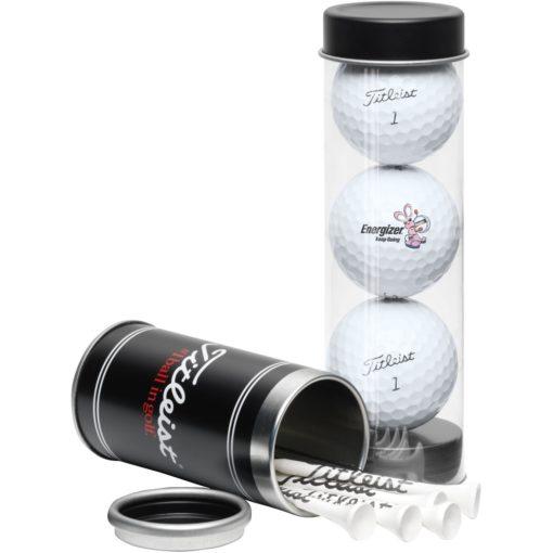 Titleist® 3-Ball Tee Tube w/ DT TruSoft™ Golf Balls