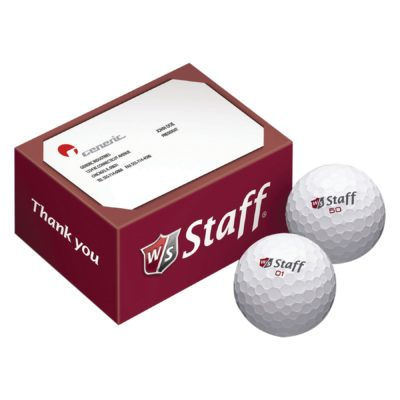Wilson Staff® 2-Ball Business Card Box