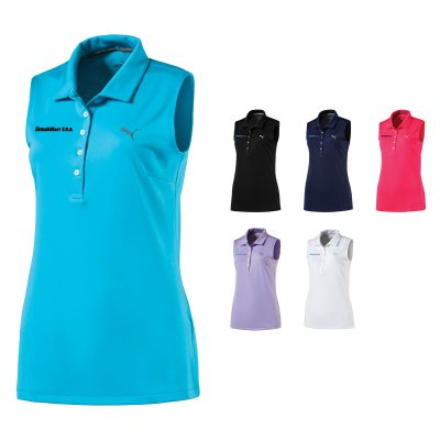Ladies Puma Sleeveless Pounce Polo Shirt
