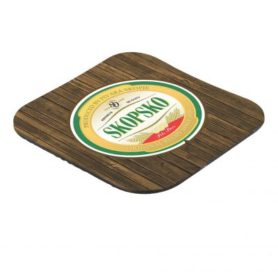 "Full color Rubber Coaster 4-1/4"" square 1/8"""