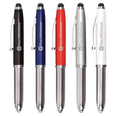 Metal Stylus Pen w/ Cap & LED While Supplies Last