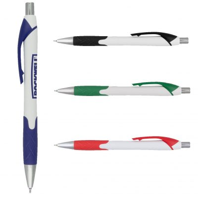 Harmony Super Glide White Pen w/Colored Gripper