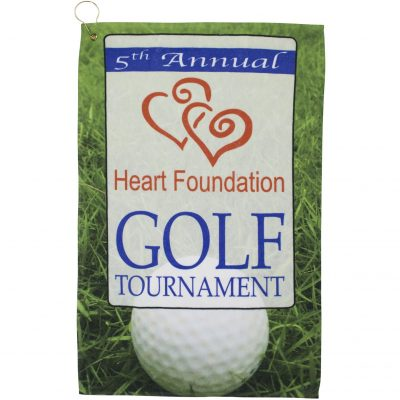 "Full Color Golf Towel includes Hook/Grommet (16""x25"")"
