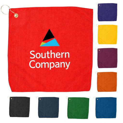 "15"" x 15"" Hemmed Color Golf Towel"