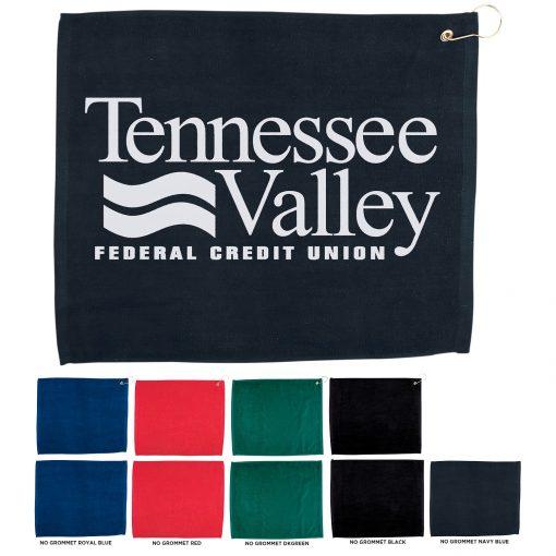 """15"""" x 18"""" Hemmed Color Golf Towel"""