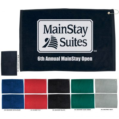 "16"" x 25"" Hemmed Color Golf Towel"