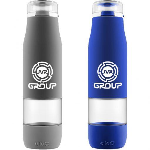 24 oz Ello Aura Glass Water Bottle W/ Gift Box