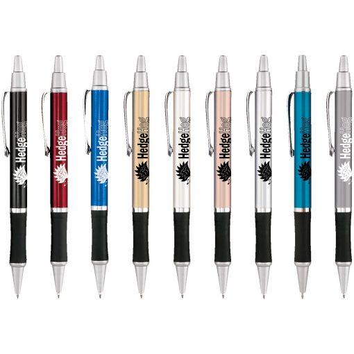 Hedgehog Metallic Black Gripper Pen