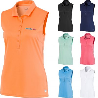 Ladies Puma Sleeveless Rotation Polo