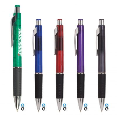 Quasar Translucent Black Gripper Pen