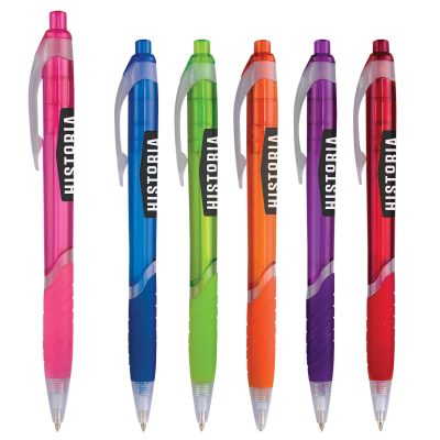 Zinnia Translucent Gripper Pen with Clear Accents
