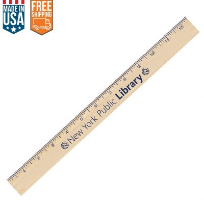 "12"" Natural Finish Ruler - Free FedEx Ground Shipping"