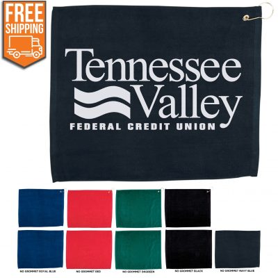 """15"""" x 18"""" Hemmed Color Golf Towel - Free FedEx Ground Shipping"""