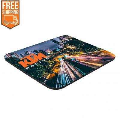 "8"" x 9-1/2"" x 1/8"" Full Color Soft Mouse Pad - Free FedEx Ground Shipping"
