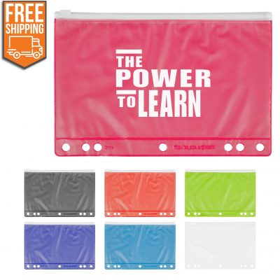 Slide Lock School Pencil Pouch - Free FedEx Ground Shipping