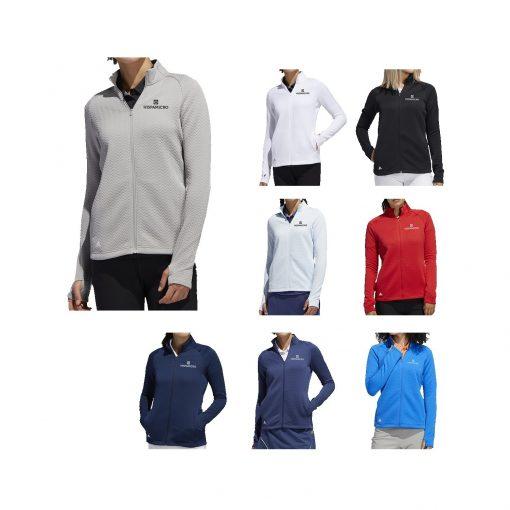 Adidas Womens Textured Layer Jacket