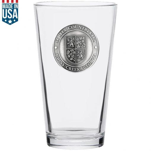 Heritage Pint Glass 1 5/8 Medallion