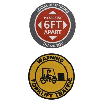 """11.5"""" Round Walk Or Wall Sticker"""