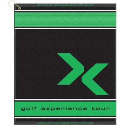 "16"" x 19"" Designer Woven Golf Towel w/ Scrubbers"