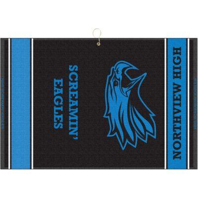 "16"" x 24"" Designer Woven Golf Towel w/ 2 Scrubbers"
